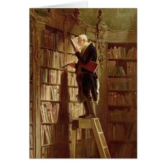 El ratón de biblioteca tarjeta de felicitación