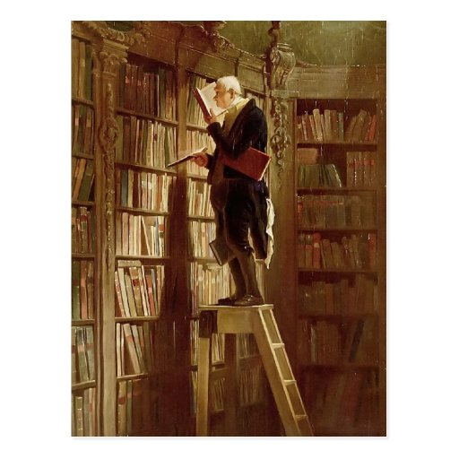 El ratón de biblioteca tarjeta postal