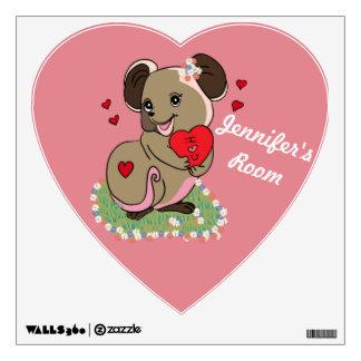 El ratón de encargo del amor con el corazón y yo