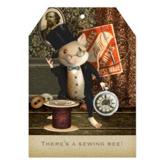 """El ratón del sastre del Victorian Invitación 5"""" X 7"""""""