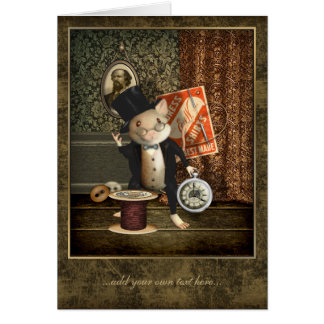 El ratón del sastre del Victorian personalizado Tarjeta De Felicitación