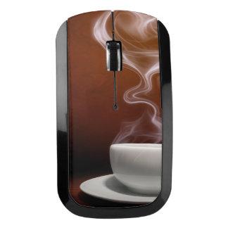 El ratón inalámbrico elegante del amante del café