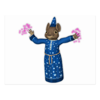 El ratón lindo del mago del dibujo animado postal