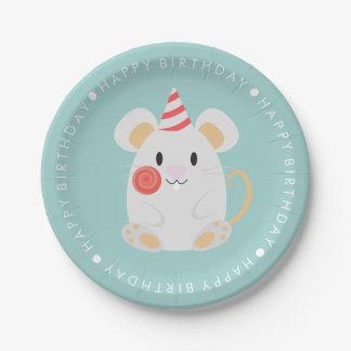 El ratón lindo embroma a la fiesta de cumpleaños platos de papel