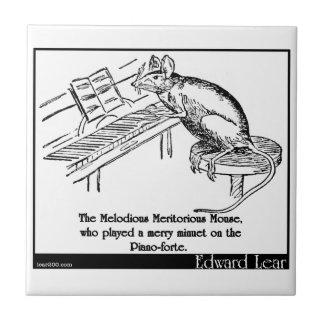 El ratón meritorio melodioso azulejo cuadrado pequeño