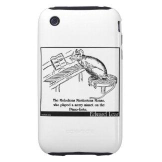 El ratón meritorio melodioso iPhone 3 tough coberturas
