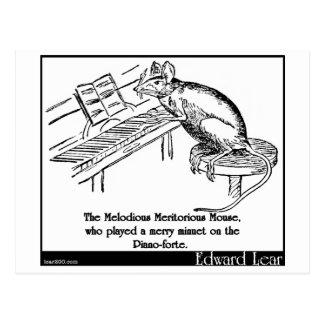 El ratón meritorio melodioso postales