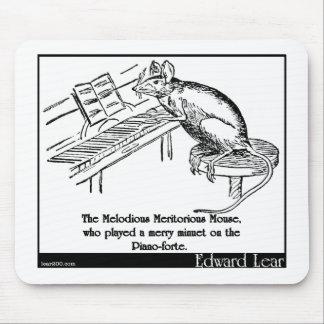 El ratón meritorio melodioso tapete de ratones