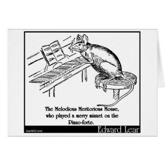 El ratón meritorio melodioso tarjeta de felicitación