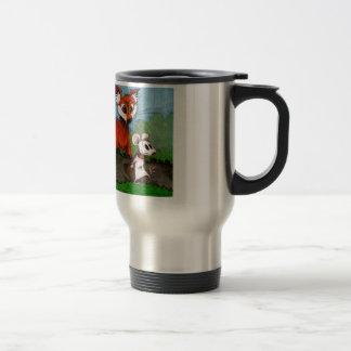 El ratón que viaja tazas de café
