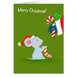 El ratón resuelve la tarjeta de Santa