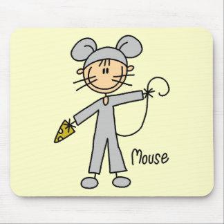 El ratón viste para arriba las camisetas y los reg tapete de ratones