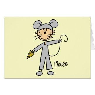 El ratón viste para arriba las camisetas y los reg tarjeta de felicitación