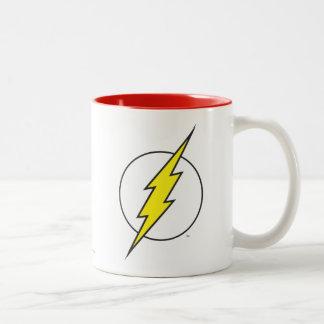 El rayo de destello del | taza de café de dos colores