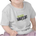 El rebelde quiere hacia fuera camiseta