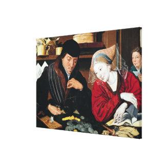 El recaudador de impuestos lienzo envuelto para galerías