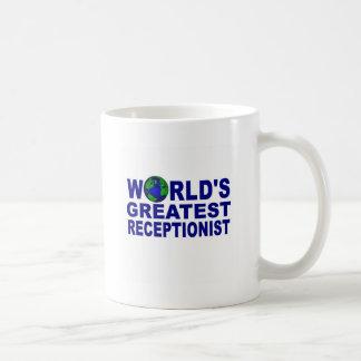 El recepcionista más grande del mundo taza