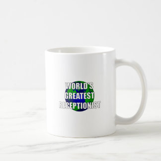 El recepcionista más grande del mundo taza de café