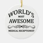 El recepcionista médico más impresionante del adornos de navidad