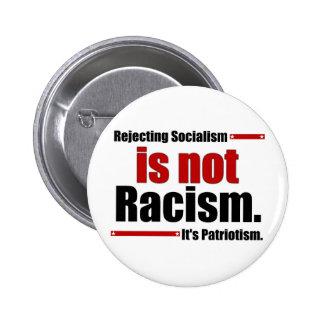El rechazo de socialismo no es racismo… pin redondo 5 cm