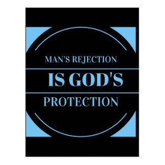 el rechazo del hombre es la protección de dios postal