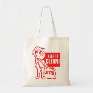 El reciclaje del kitsch del vintage lo guarda indi bolsa tela barata
