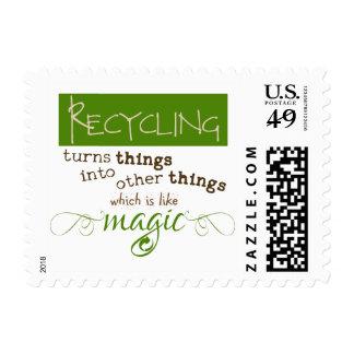 El reciclaje es como magia timbre postal