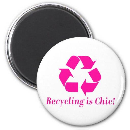¡El reciclaje es elegante! Iman De Nevera