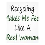 El reciclaje hace que siente como una mujer real tarjetones