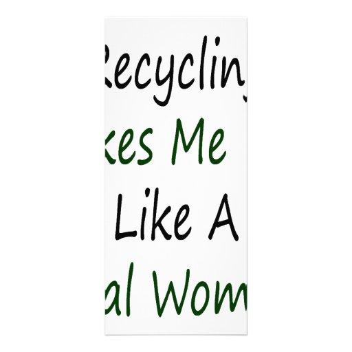 El reciclaje hace que siente como una mujer real diseños de tarjetas publicitarias