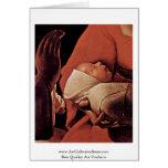 El recién nacido (nacimiento de Cristo?) Tarjeton