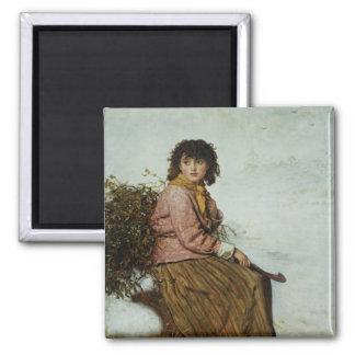 El recolector del muérdago, 1894 imanes de nevera