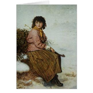 El recolector del muérdago, 1894 tarjeton