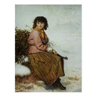 El recolector del muérdago, 1894 postal