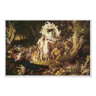 El Reconciliatin de Oberon y del Titania, 1847 Poster
