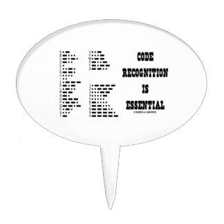 El reconocimiento del código es esencial (el figuras de tarta