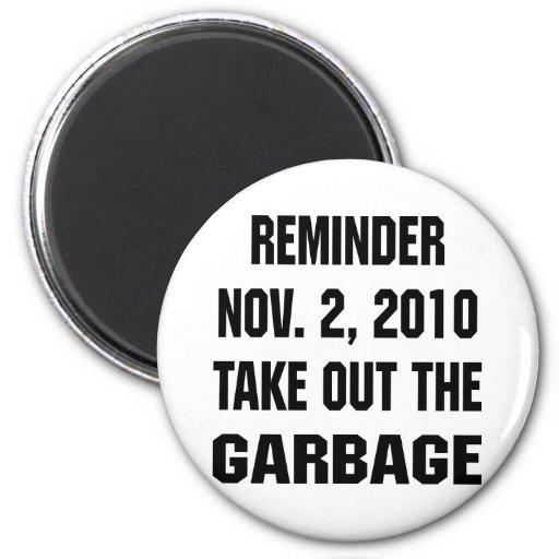 El recordatorio 2 de noviembre de 2010 saca la bas imán