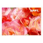 El recordatorio de la cita carda las flores color tarjetas de visita grandes