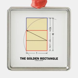 El rectángulo de oro (coeficiente de la matemática ornaments para arbol de navidad