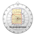 El rectángulo de oro (coeficiente de la matemática tabla dardos