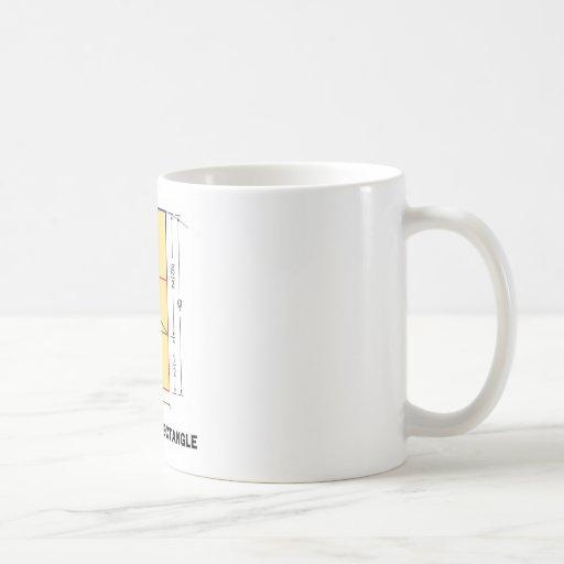 El rectángulo de oro (coeficiente matemático) taza de café