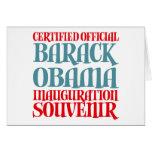 El recuerdo certificado de la inauguración de Obam Tarjetón
