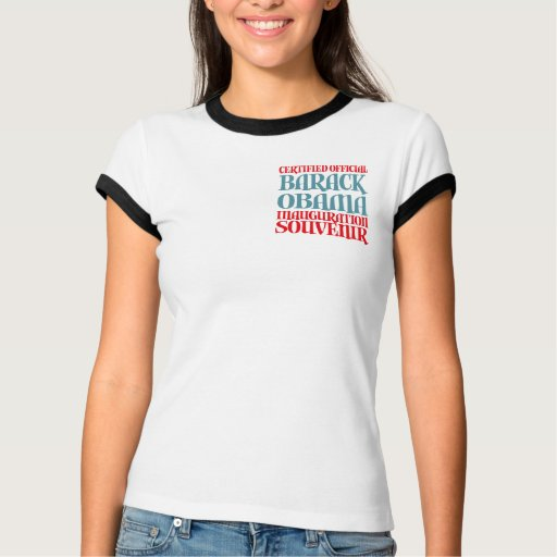 El recuerdo certificado de la inauguración de t shirts
