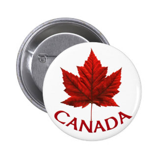 El recuerdo de Canadá abotona el Pin de la hoja de Pin Redondo 5 Cm