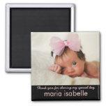 El recuerdo dulce de la foto del bebé le agradece  imanes para frigoríficos