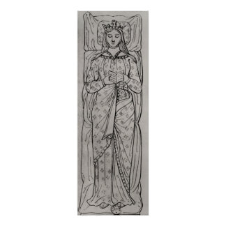 El Recumbant Eleanor de Aquitania Impresiones