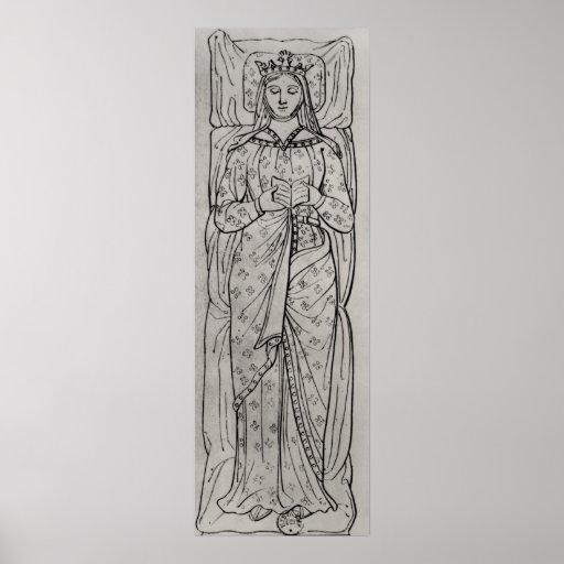 El Recumbant Eleanor de Aquitania Póster
