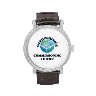 El redactor de Comisión más grande del mundo Reloj De Mano