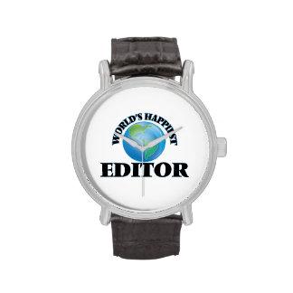 El redactor más feliz del mundo reloj de mano
