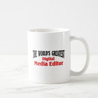 El redactor más grande de los medios de Digitaces Taza
